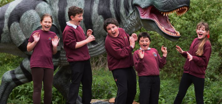 Pupils meet the T-Rex