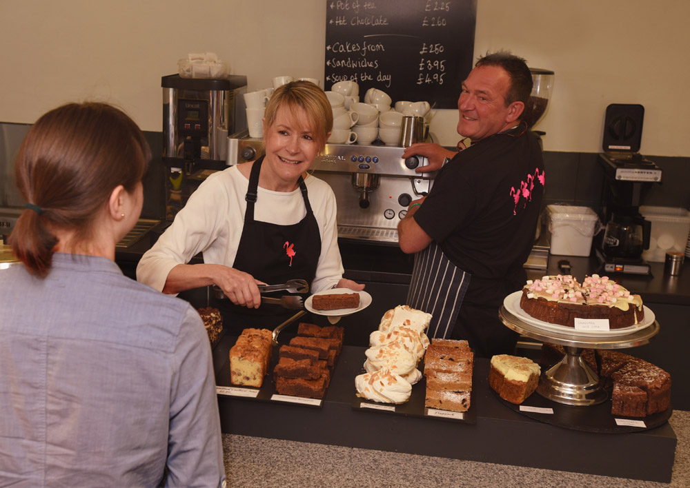 Flamingo Point Cafe cakes 1 - Cafe Opening Times this Winter