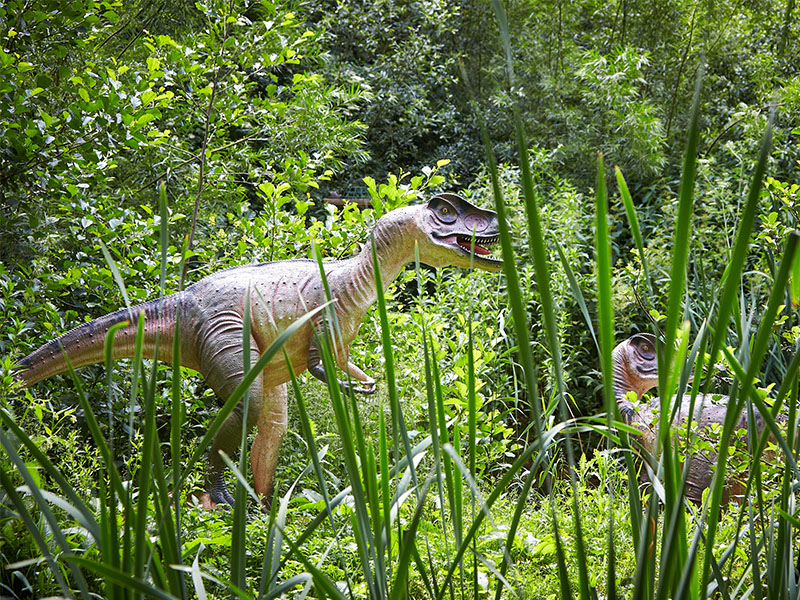 Two dinosaurs. Birdland Park Gardens Borton on the Water 1 - Dinosaur Weekend - May Bank Holiday