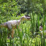 Two dinosaurs. Birdland Park & Gardens, Borton-on-the-Water