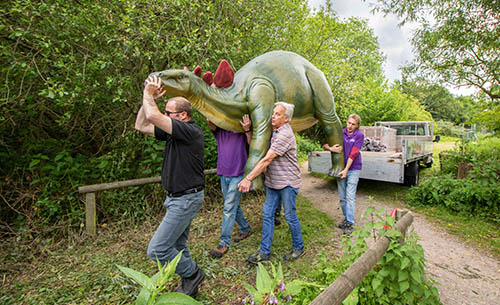 Stegosaurus Descend at Birdland Park and Gardens