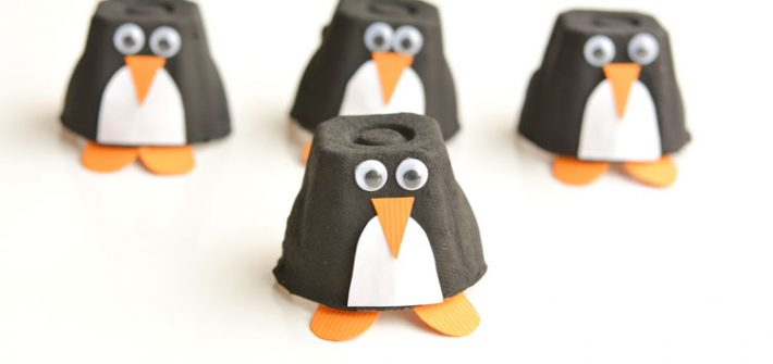 Egg Carton Penguin crafts