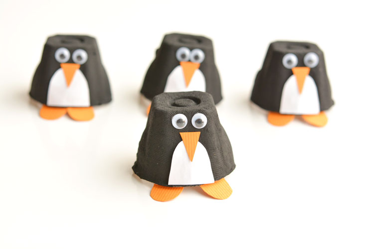 Egg Carton Penguin crafts